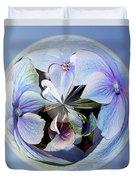 Blue Flower Orb Duvet Cover
