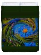 Blue Flower Whirlpool Duvet Cover