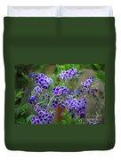 Blue Flowers Card Duvet Cover