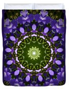 Blue Flowers Kaleidoscope Duvet Cover