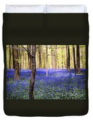 Blue Forest In Shadow Duvet Cover