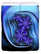 Blue Fractal Art Curved And Elegant Duvet Cover