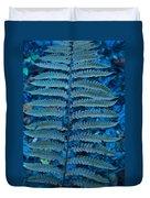 Blue Frond Duvet Cover
