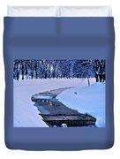 Blue Frozen River Duvet Cover