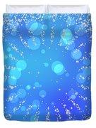 Blue Frozen Window Duvet Cover