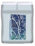 Blue Gate Mosaic Duvet Cover