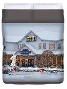 Blue Gate Restaurant Shipshewana In Winter Duvet Cover