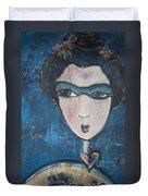 Blue Geisha Love Detail Duvet Cover