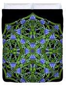 Blue Gentian Lattice Duvet Cover