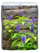 Blue Ginger At The Wall Duvet Cover
