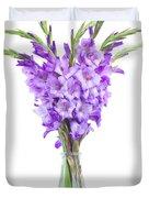 Blue  Gladiolus Duvet Cover