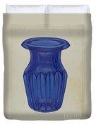 Blue Glass Duvet Cover