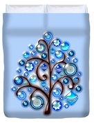 Blue Glass Ornaments Duvet Cover