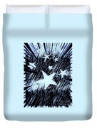 Blue Glow Starry Abstract Duvet Cover