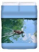 Blue Goose-1 Duvet Cover