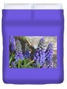 Blue Grape Hyacinths Duvet Cover