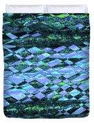 Blue Green Ocean Abstract Duvet Cover