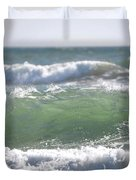 Blue Green Waves Duvet Cover