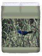 Blue Grosbeak At Rest Duvet Cover