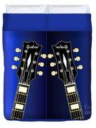 Blue Guitar Reflections Duvet Cover