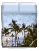 Blue Hawaii Duvet Cover