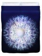 Blue Haze Petals Duvet Cover