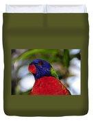 Blue Head Bird Duvet Cover