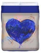 Blue Heart 126 Duvet Cover