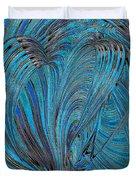 Blue Hearts Open Duvet Cover