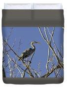 Blue Heron 22 Duvet Cover