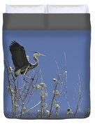 Blue Heron 35 Duvet Cover