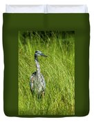 Blue Heron In A Marsh Duvet Cover