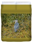 Blue Heron In The Autumn Colours Duvet Cover