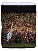 Blue Heron In The Cypress Knees Duvet Cover