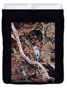 Blue Heron In Tree Duvet Cover