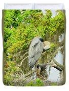 Blue Heron Series Little One Duvet Cover