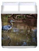 Blue Heron Stalking  Duvet Cover