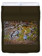 Blue Herons Duvet Cover