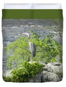 Blue Herring Bird  Duvet Cover
