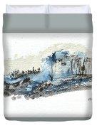 Blue Hillside Duvet Cover