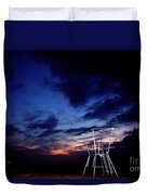 Blue Hole Tower Duvet Cover
