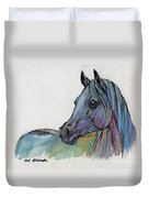 Blue Horse Duvet Cover