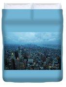 Blue Hour In New York Duvet Cover