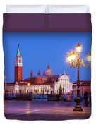 Blue Hour In Venice Duvet Cover by Barry O Carroll