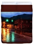 Blue Hour In Webster Springs Duvet Cover