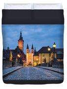 Blue Hour In Wuerzburg Duvet Cover