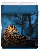 Blue Hour Leopard Duvet Cover