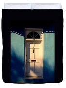 Blue House Door Duvet Cover by Susanne Van Hulst