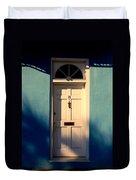 Blue House Door Duvet Cover