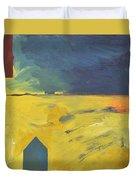 Blue House Gold Field Duvet Cover